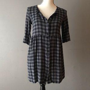 💗Flannel Babydoll Dress Women's 4